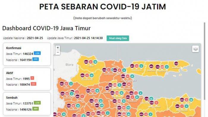 Update Virus Corona di Surabaya 26 April 2021 & Syarat Naik KA Diperketat Imbas Larangan Mudik