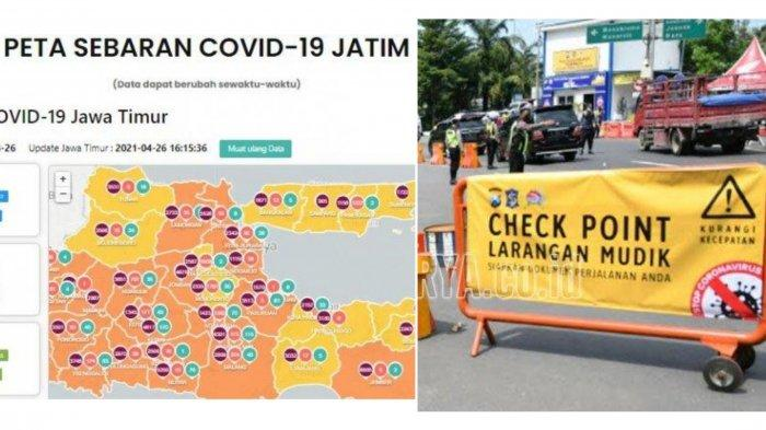 Update Virus Corona di Surabaya 8 Mei 2021 & Larangan Mudik Lokal, Stiker Khusus Plat Non L-W