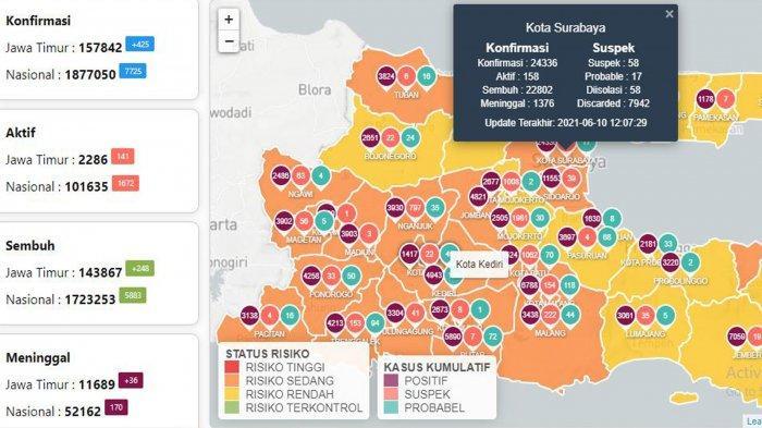 Update Virus Corona di Surabaya 11 Juni: Naik 32 dan 120 Positif Covid-19 Saat Penyekatan Suramadu