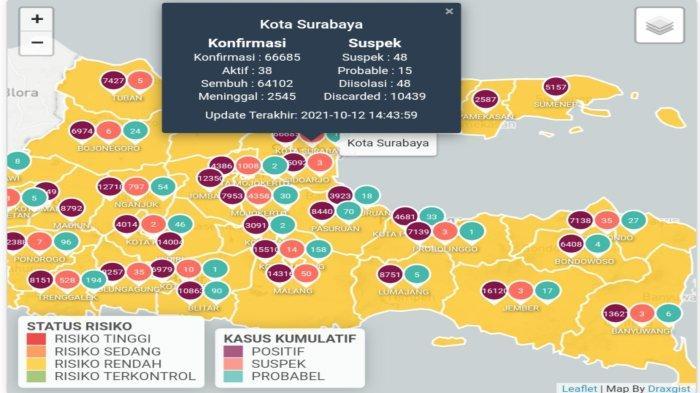 Update Virus Corona di Surabaya 12 Oktober 2021: Aturan Peringatan Maulid Nabi & Natal PPKM Level 1