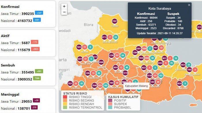 Update Virus Corona di Surabaya 12 September 2021: Covid-19 Naik 51 dan Aturan Nikah Saat PPKM