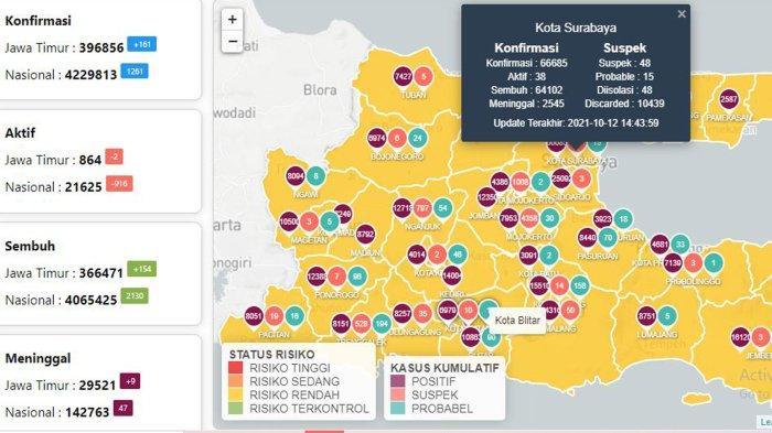 Update Virus Corona di Surabaya 13 Oktober 2021: Covid-19 Naik 19 dan Khofifah Optimis Jatim Bangkit