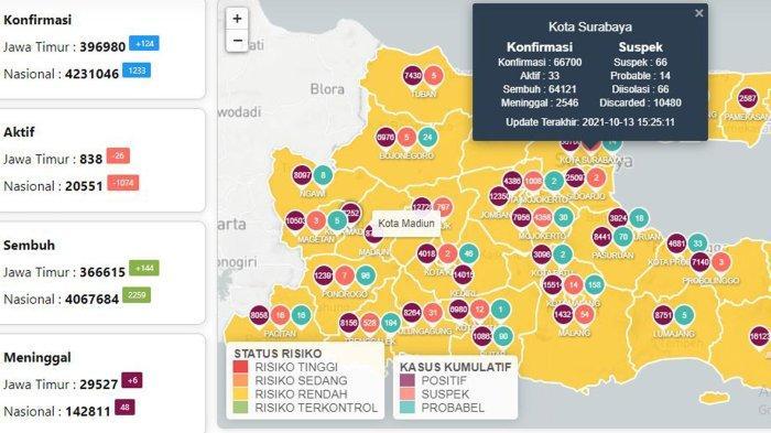 Update Virus Corona di Surabaya 14 Oktober: Naik 15 Kasus, Warga Mulai Ajukan Asesmen Hajatan Besar