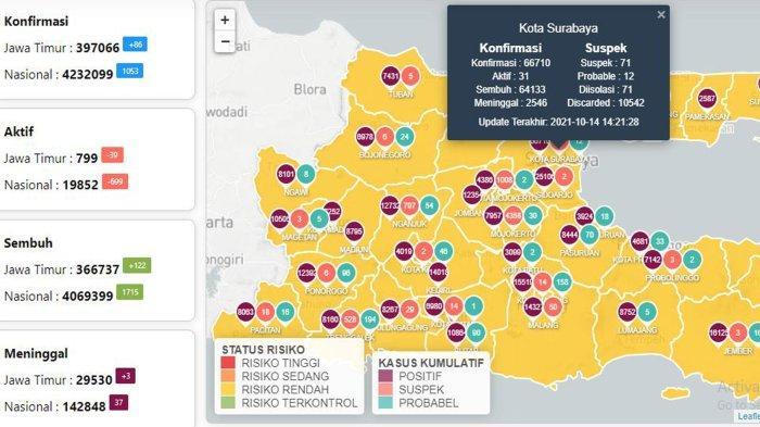 Update Virus Corona di Surabaya 15 Oktober: Covid-19 Naik 10 & Pemkot Ingin Hidupkan Jalan Tunjungan