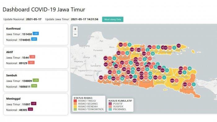 Update Virus Corona di Surabaya, Senin 17 Mei 2021: Gubernur Khofifah Pastikan Belajar Tatap Muka
