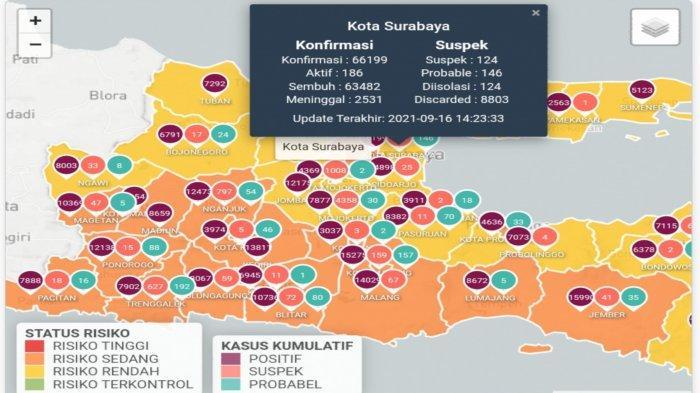 Update Virus Corona di Surabaya 17 September 2021: 97 Persen Wilayah di Jatim Zona Kuning Covid-19