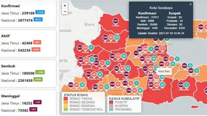 Update Virus Corona di Surabaya 19 Juli: Covid-19 Masih Ribuan & Cara Pesan Isi Ulang Oksigen Gratis