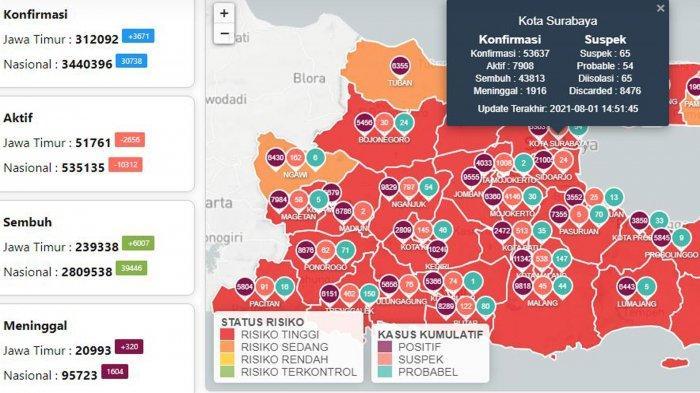 Update Virus Corona di Surabaya 2 Agustus: Covid-19 Naik 855 dan PPKM Level 4 Berakhir Hari ini