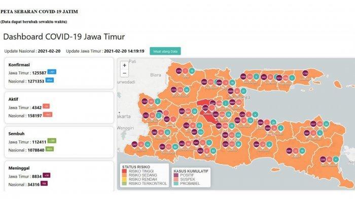 UPDATE Virus Corona di Surabaya 21 Februari 2020: Tambah 55, Skema WFH dan WFO PPKM Mikro Malang