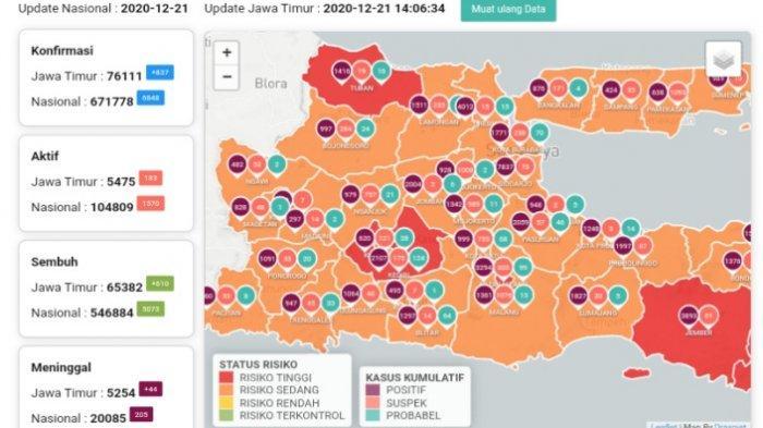 Update Virus Corona di Surabaya 22 Desember 2020 Masih Naik, Walikota Risma Larang Warga Luar Kota