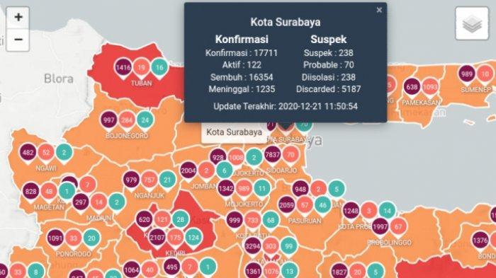Update Virus Corona di Surabaya 22 Desember 2020