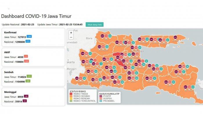Update Virus Corona di Surabaya, 23 Februari 2021: Tambah 63, Ini Daftar 22 RT Zona Merah