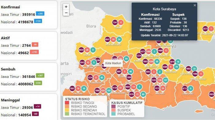 Update Virus Corona di Surabaya 23 September: Covid-19 Naik 24 dan 52 KA Lokal yang Beroperasi Lagi