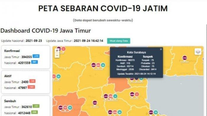 Update Virus Corona di Surabaya 24 September 2021: Tambah 18, Anak-anak Belum Boleh ke Tempat Wisata