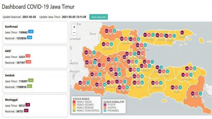 Update Virus Corona di Surabaya, Rabu 3 Maret 2021: Tambah 40 & Zona Oranye Menyusut