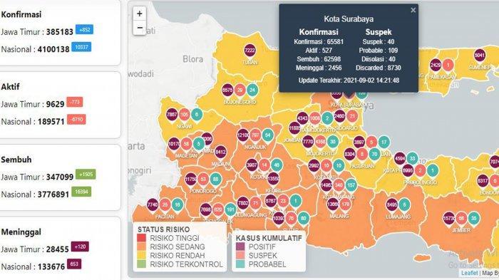 Update Virus Corona di Surabaya 3 September: Covid-19 Naik 106 dan Vaksinasi Digencarkan Jelang PTM