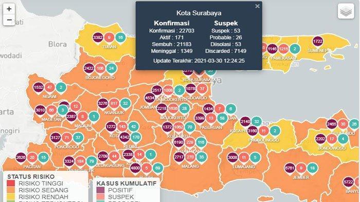 Update Virus Corona di Surabaya 31 Maret 2021, Jokowi Minta PPKM Mikro dan Vaksinasi Diseimbangkan