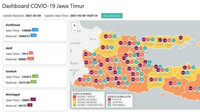 Update Virus Corona di Surabaya 4 Mei 2021: Larangan Mudik, Ini Daftar KA Jarak Jauh yang Beroperasi
