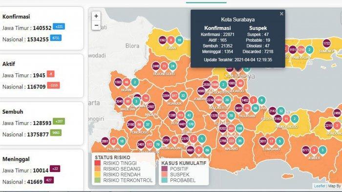 Update Virus Corona di Surabaya 5 April 2021: PPKM Mikro Diperpanjang dengan Tambahan 5 Provinsi