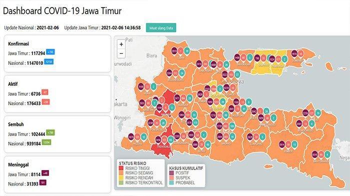 Update Virus Corona di Surabaya 6 Februari 2021