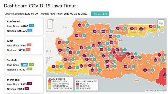 Update Virus Corona di Surabaya dan Daftar Zona Merah di Jatim 20 September