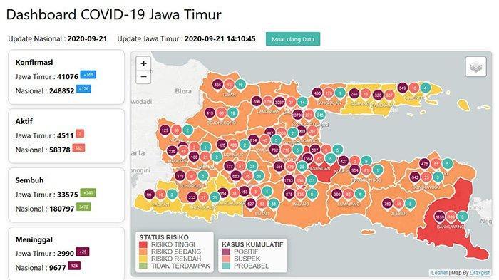 Update Virus Corona di Surabaya Jatim 22 September 2020: Positif Covid-19 Melonjak, Total 13.700