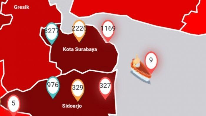 Update Virus Corona di Surabaya dan Jatim 20 Mei, Kasus COVID-19 Naik, Warga Sidoarjo Terima Bantuan