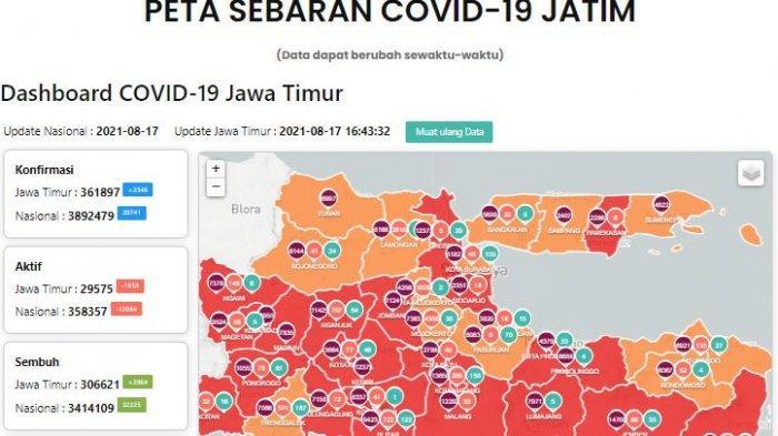 Update Virus Corona di Surabaya 18 Agustus Tambah 270 & Aturan Baru Masuk Mall Boleh Dine in