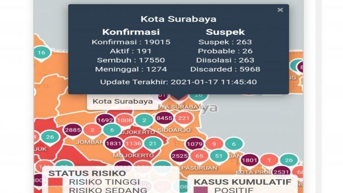 Update Virus Corona di Surabaya Hari Ini 18 Januari 2021 Tambah 41, Lokasi Tes Antigen Drive Thru