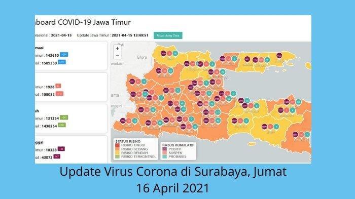 Update Virus Corona di Surabaya 16 April: Larangan Mudik di Aglomerasi Jatim, Titik Penyekatan Jalan