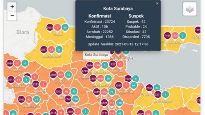 Update Virus Corona di Surabaya 14 Mei 2021: Kabar Baik PPKM Mikro di Jawa & Jadwal Penyekatan Jatim