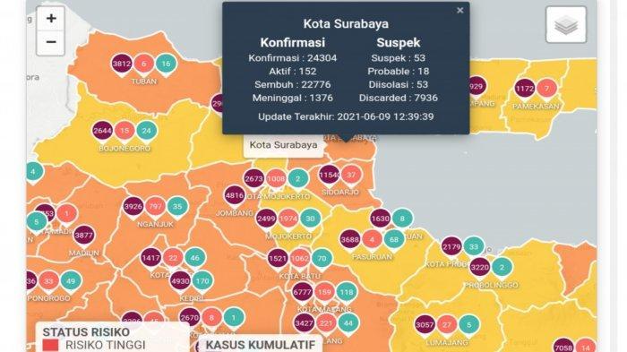 Update Virus Corona di Surabaya 10 Juni 2021: Naik 30 dan Jadwal Berakhirnya Penyekatan Suramadu
