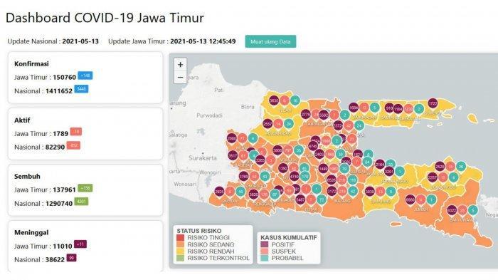 Update Virus Corona di Surabaya Kamis 13 Mei 2021
