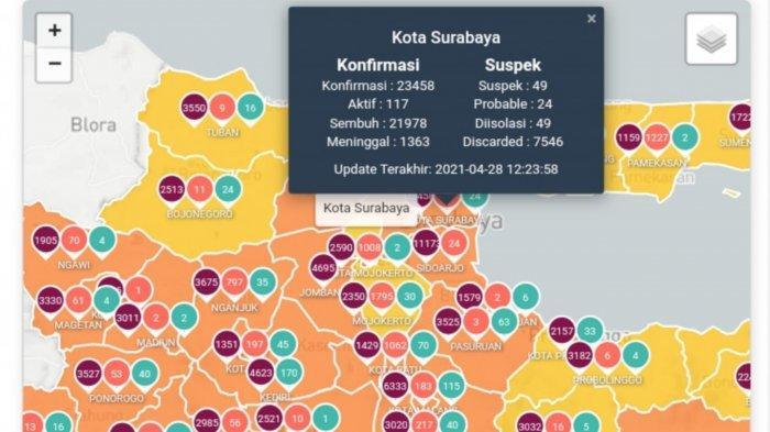 Update Virus Corona di Surabaya 29 April 2021: PPKM Mikro Berhasil, Polisi Perketat Perbatasan Jatim