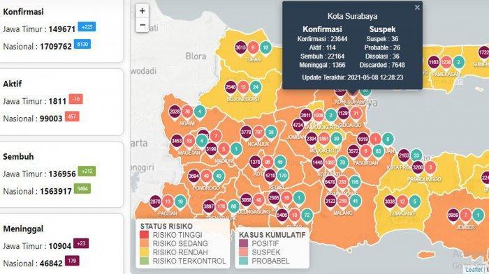Update Virus Corona di Surabaya 9 Mei 2021: Covid-19 Naik 22, Syarat Naik Angkot Saat Larangan Mudik