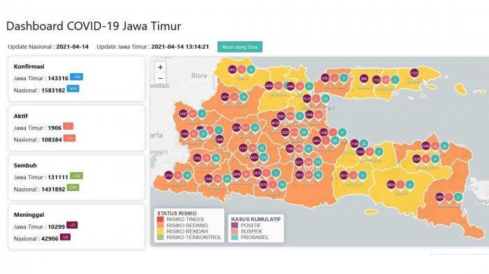 Update Virus Corona di Surabaya, Rabu 14 April 2021: Tambah 21 & Info 13 Titik Penyekatan Jalan