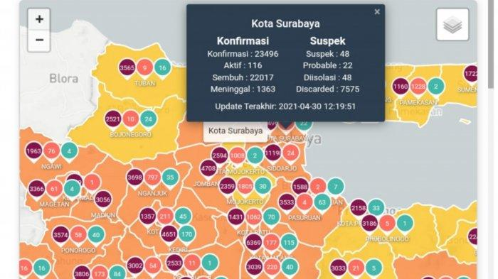 Update Virus Corona di Surabaya 1 Mei 2021: Tambah 19, 20 Titik Penyekatan & Jaga Ketat Jalan Tikus