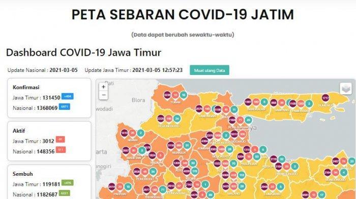 Update Virus Corona di Surabaya Sabtu 6 Maret 2021, Update PPKM Mikro & Mutasi Covid-19 di Jatim