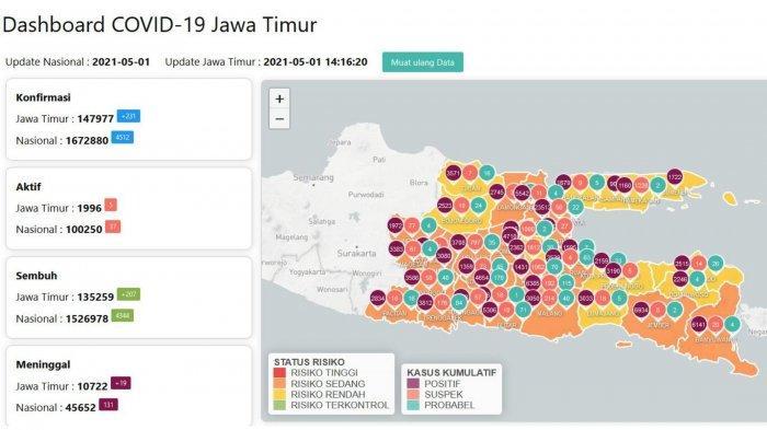 Update Virus Corona di Surabaya Sabtu 1 Mei 2021