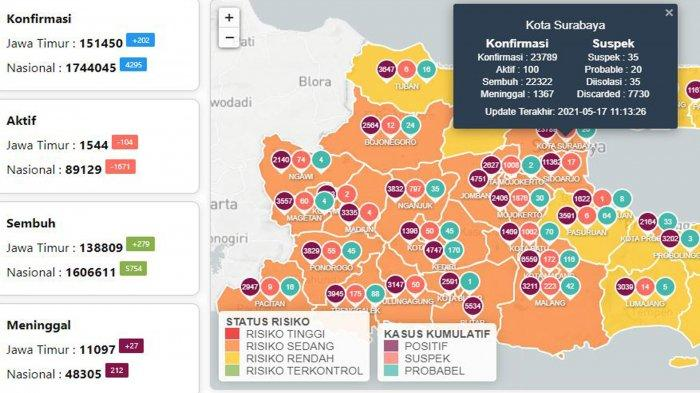Update Virus Corona di Surabaya 18 Mei 2021: PPKM Mikro akan Diperkuat, Aturan Perjalanan 18-24 Mei