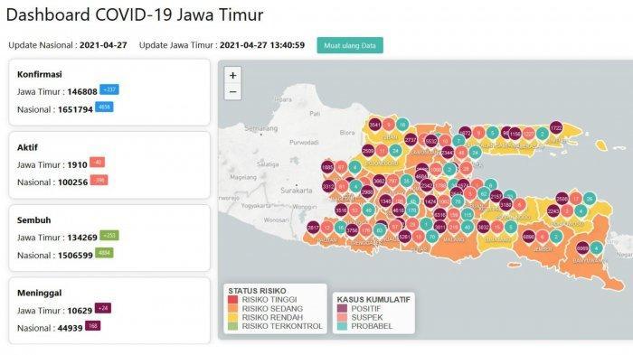 Update Virus Corona di Surabaya, Selasa 27 April 2021: 780 Ribu Warga Sudah Divaksin
