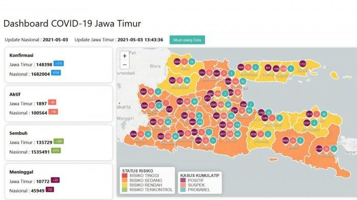 Update Virus Corona di Surabaya Senin 3 Mei 2021: Larangan Mudik, Bus Tak Beroperasi Sejak 6-17 Mei