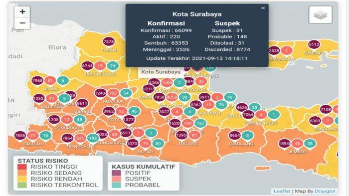 Update Virus Corona di Surabaya 13 September 2021: Covid-19 Turun, PPKM Tetap Diperpanjang?