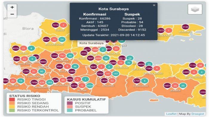 Update Virus Corona di Surabaya 20 September 2021: Aturan PPKM Level 1 Termasuk Sekolah & Hajatan