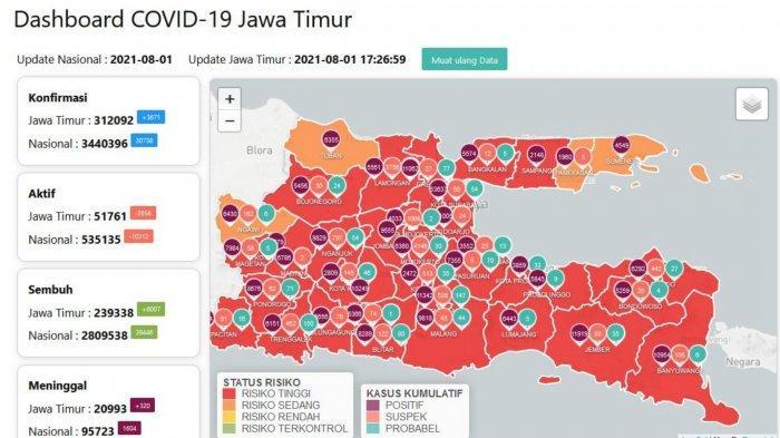 Update Virus Corona Surabaya 1 Agustus 2021: Tambah 855 COVID-19, Kapasitas Rumah Sehat Mulai Terisi