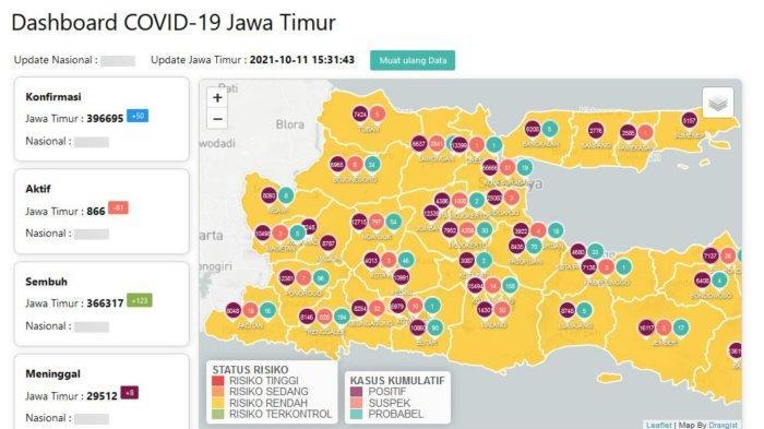 Update Virus Corona Surabaya 12 Oktober 2021: 32 Daerah PPKM Level 1 & Ungkapan Gubernur Khofifah