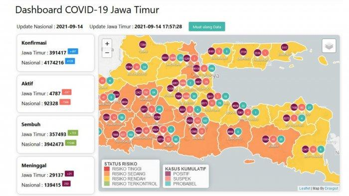 Update Virus Corona di Surabaya 15 September: Covid19 Naik & Daftar Lokasi Wajib Scan PeduliLindungi