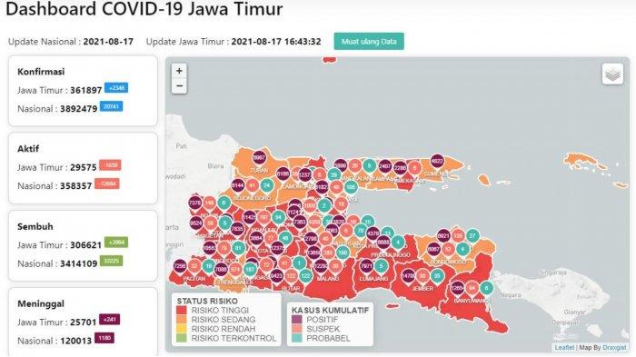 Update Virus Corona Surabaya 17 Agustus 2021: Tambah 270 & Cara Akses Layanan Mobil Vaksin Keliling