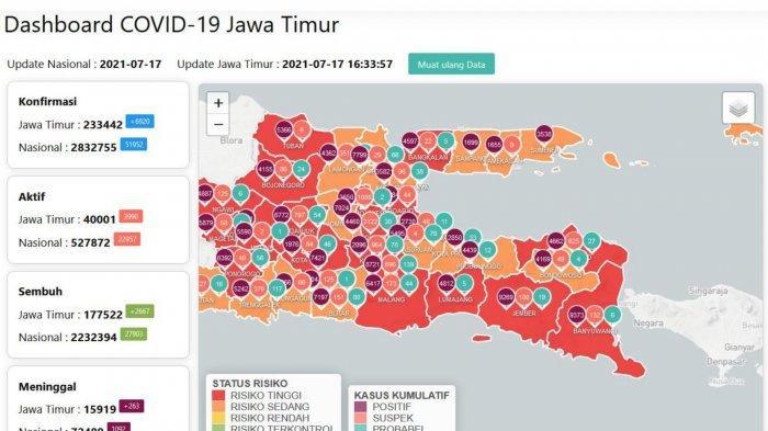 Update Virus Corona Surabaya 17 Juli 2021: Gubernur Khofifah Resmikan Depo Isi Ulang Oksigen Gratis