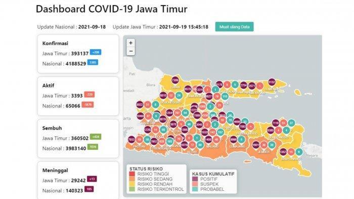 Update Virus Corona Surabaya 19 September 2021: Tambah 19, Syarat Gelar Pernikahan Saat PPKM Level 1